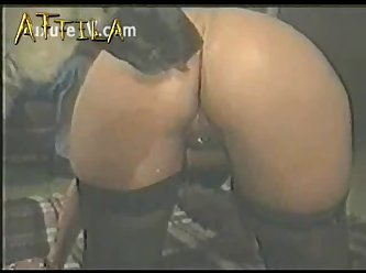 Mature Slut Dressed In A Maid Uniform And Thigh Highs Enjoyi (part 5)